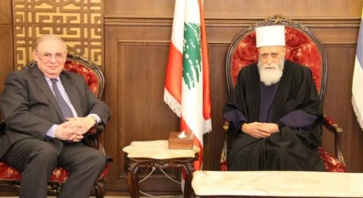 الشيخ حسن إلتقى البستاني ووفدين من القوات وعمدة الأيتام الإسلامية