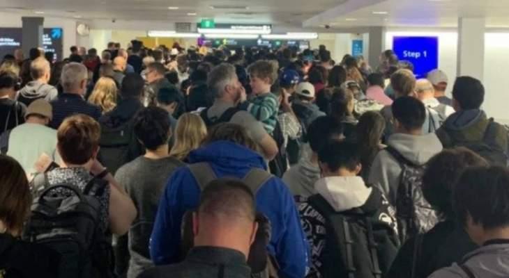 تكدس الركاب في مطارات أستراليا بعد تعطل أنظمة البوابات الإلكترونية