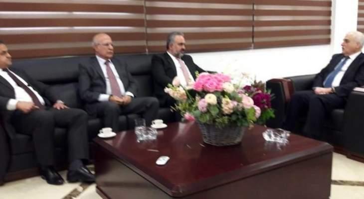 جبق تابع قضايا نقابية وصحية مع نقابتي أطباء لبنان والشمال والتقى وفدا من الحزب القومي