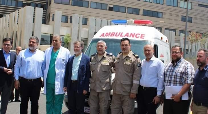 جمعية الرسالة للاسعاف الصحي تسلمت  سيارة اسعاف من مستشفى الزهراء