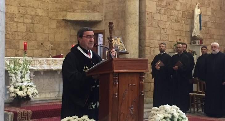 راعي أبرشية البترون:شعبنا ووطننا يحتاجان لسياسيين يمارسون عملهم بتضحية وتجرد