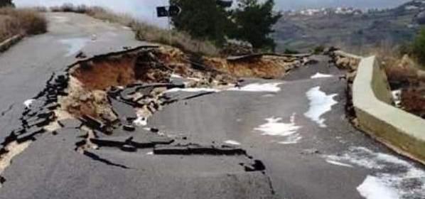 طريق بسري مقطوعة وطريق حداب شبه مقطوعة وإزالة الثلوج وفتح الطرق في جزين