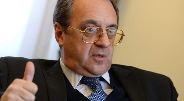 بوغدانوف بحث مع السفير العراقي في مسألة تشكيل الحكومة العراقية الجديدة