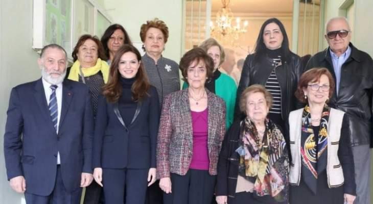 خيرالله الصفدي زارت مؤسسة عفيف عسيران: القضاء على الفقر يدخل في أولويات الوزارة