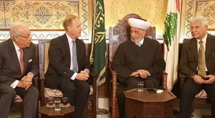 دريان استقبل سفير منظمة فرسان مالطا ورئيس هيئة الدفاع عن حقوق بيروت