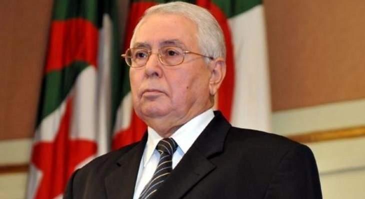الرئيس الجزائري المؤقت دعا للإلتزام بموعد الإنتخابات الرئاسية في البلد