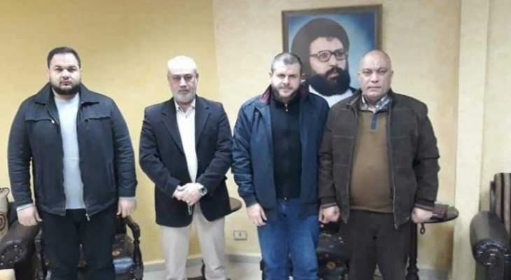 """قائد """"القوة المشتركة"""" في عين الحلوة التقى قيادة """"حزب الله"""" في صيدا"""