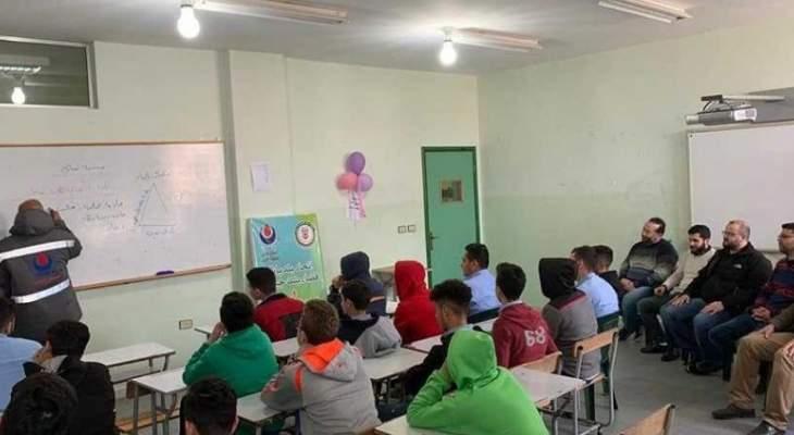 ورشة اطفاء لاساتذة وطلاب مدرسة المهدي في بنت جبيل