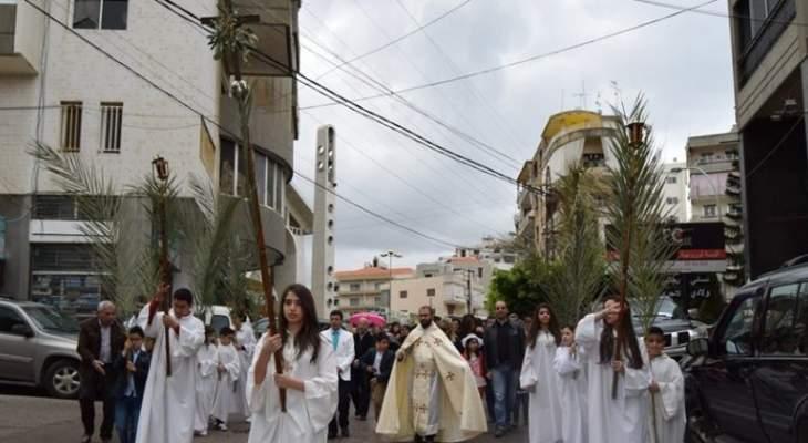 الطوائف المسيحية في صور إحتفلت بأحد الشعانين