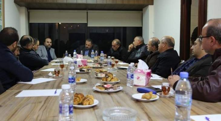 لقاء بين مؤسسة مياه لبنان الجنوبي واتحاد بلديات الزهراني لبحث مشاكل المياه والصرف الصحي