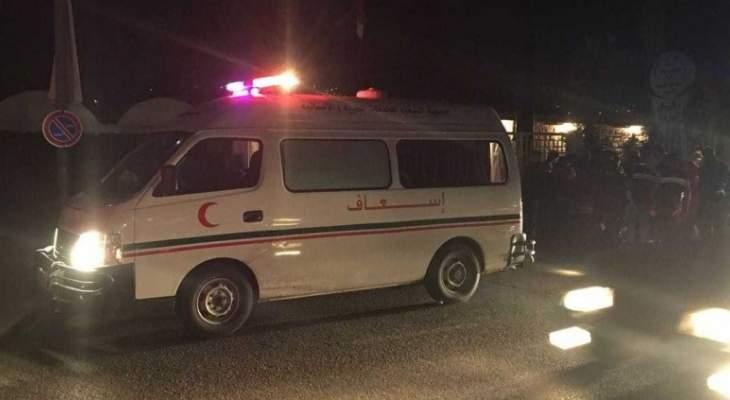 جريح سوري نتيجة اصطدام سيارته بعمود على طريق كفرحزير اميون