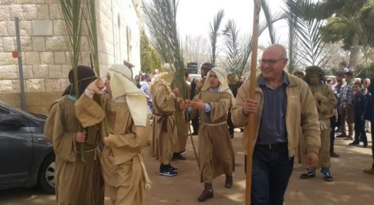 النشرة: الطوائف المسيحية في البقاع إحتفلت بأحد الشعانين