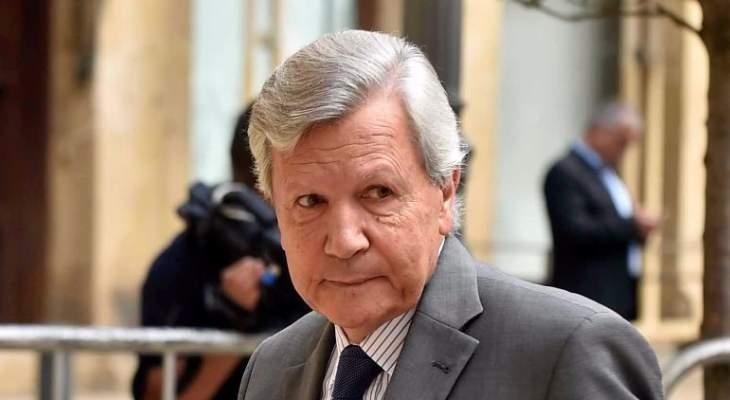 وفاة الوزير والنائب السابق روبير غانم اثر عارض صحي مفاجئ