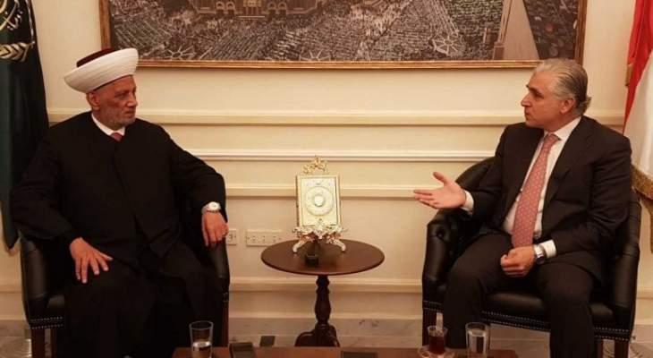 دريان التقى سفيري الصين وقطر ورئيس بلدية بيروت
