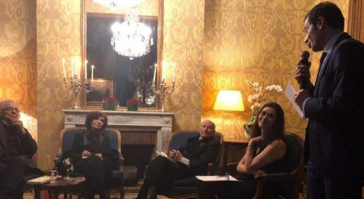 سفير لبنان في فرنسا نظم أمسية شعرية للاحتفال مع أبناء الجالية بحلول العام الجديد