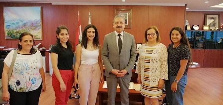 """أيوب التقى طالبات كلية الصحة الفائزات بالمرتبة الأولى في مسابقة """"حلّ النزاعات"""""""