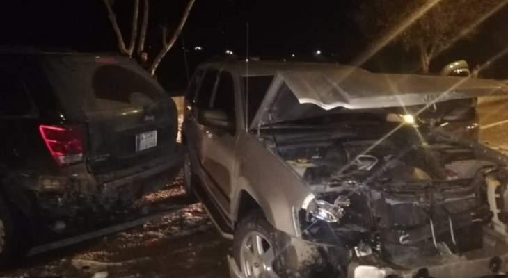 النشرة: تصادم بين 9 سيارات عند المدخل الجنوبي لمدينة بعلبك