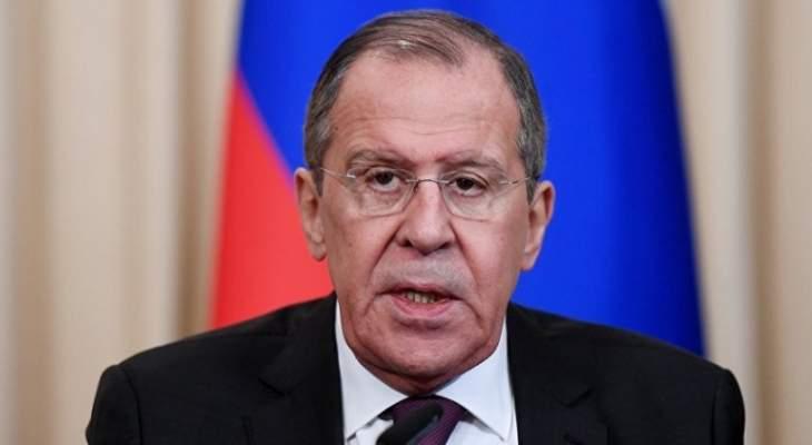 لافروف: روسيا والجيش السوري سيردان ردا قاسيا وساحقا على اعتداءات المسلحين من إدلب