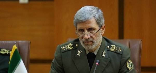 وزير الدفاع الايراني: إيران ستستخدم كل الوسائل المشروعة لمواجهة الحظر الأميركي