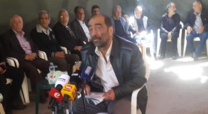 عشيرة آل جعفر دعت الجيش لفتح تحقيق بمقتل يوسف علي جعفرفي شتورا