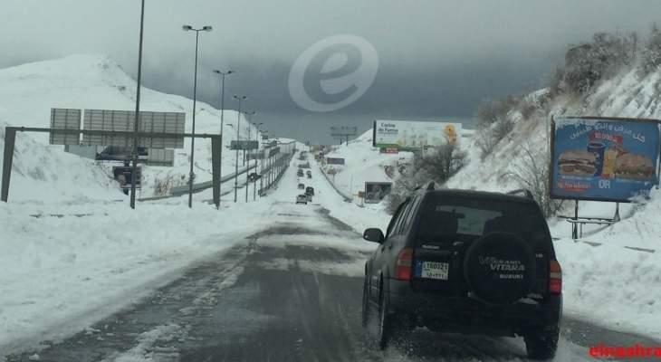التحكم المروري: طريق ضهر البيدر سالكة أمام جميع المركبات باستثناء الشاحنات