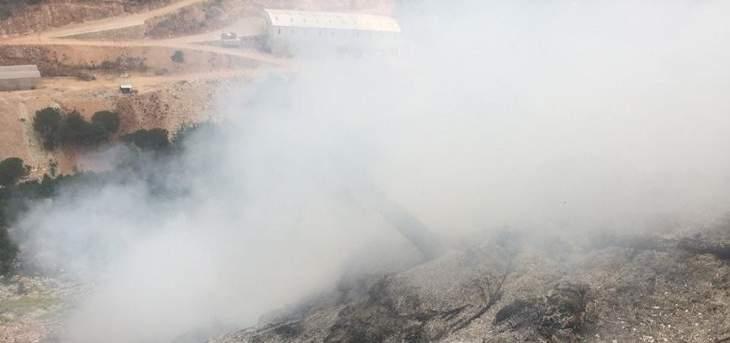 الدفاع المدني: إخماد حريق نفايات واخشاب في عجلتون