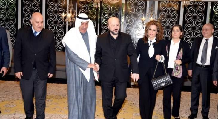 الرياشي يبحث مع رئيس مجلس ادارة تلفزيون صوت العرب والشاهد شؤونا اعلامية