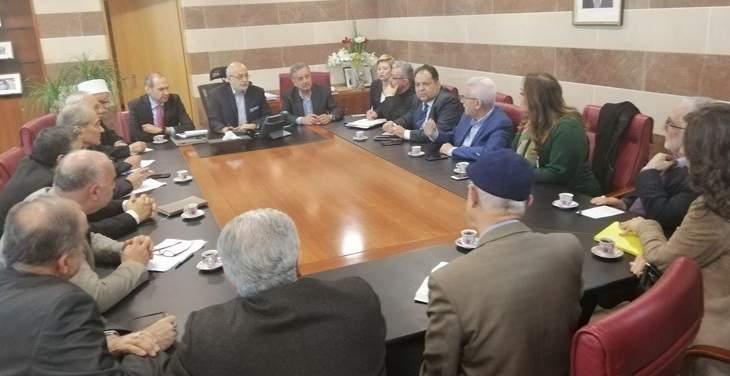 شهيب استقبل نظيره اليمني ورئيس جامعة الروح القدس واتحاد المؤسسات التربوية
