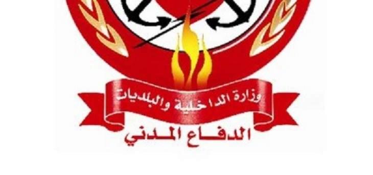 الدفاع المدني: إخماد حريق أعشاب يابسة وقصب في جسر الباشا