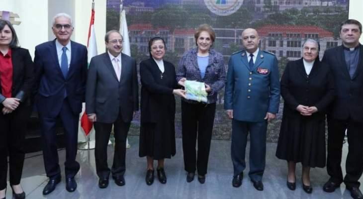 اللبنانية الاولى حضرت احتفال الراهبات الانطونيات مار ضومط بالسنة العاشرة للدمج التعلمي