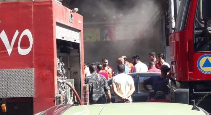 التحكم المروري:اندلاعحريق داخل احدى المحلات التجارية محلة التل طرابلس