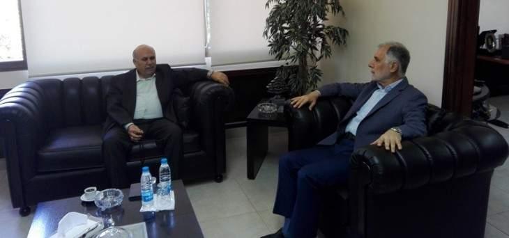 فنيش استقبل السفير الصيني ومصطفى حسين