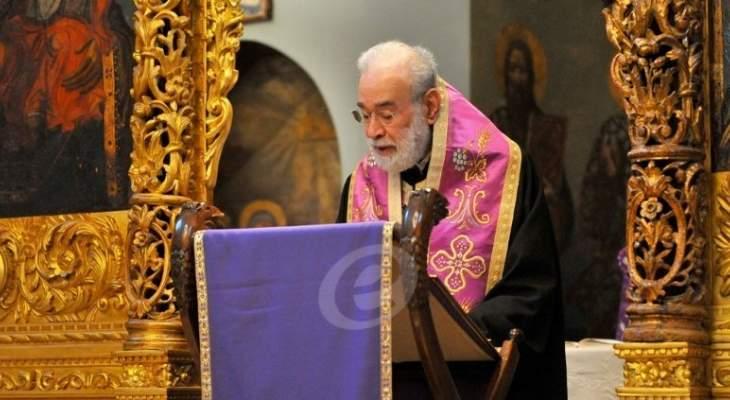 قداس في يوم خميس غسل الموائد في كاتدرائية القديس جاورجيوس