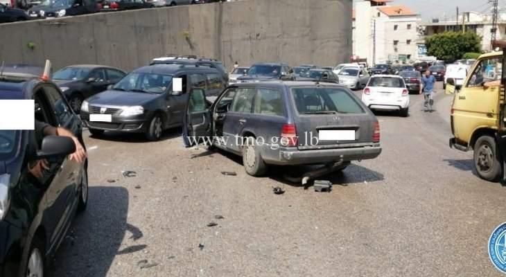 جريحان نتيجة تصادم بين 3 مركبات على طريق عام انطلياس بكفيا