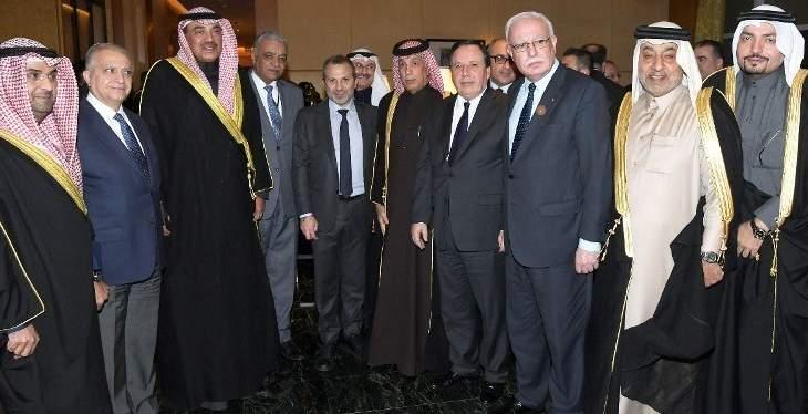 باسيل كثف اجتماعاته مع نظرائه العرب عشية القمة وأقام عشاء تكريميا على شرفهم