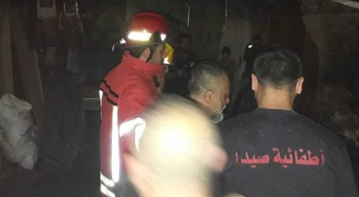 النشرة: إخماد حريق شب في الأسواق الداخلية لصيدا القديمة