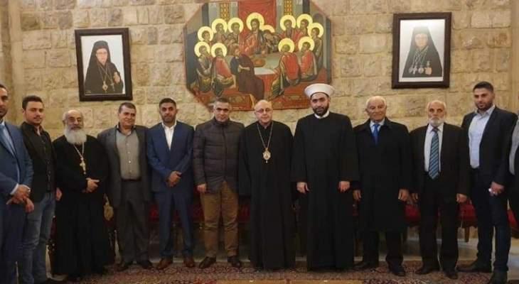 القطان جال في زحلة مهنئا بالأعياد: الوحدة الوطنية هي أساس لبقاء لبنان