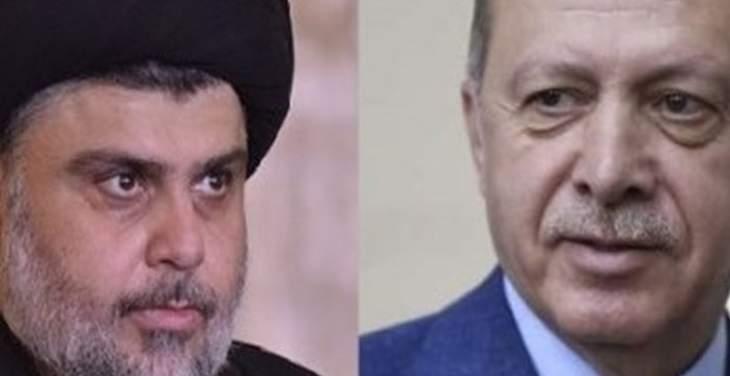 أردوغان اتصل بالصدر مهنئا: مستعدون للتعاون من أجل العراق