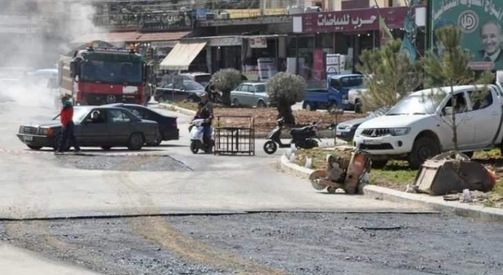 المحافظ المولى اشرف على تعبيد عدد من الطرقات بالنبطية
