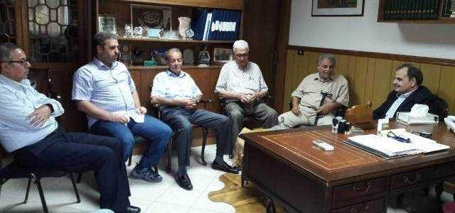 البزري التقى وفد قوى التحالف الوطني الفلسطيني