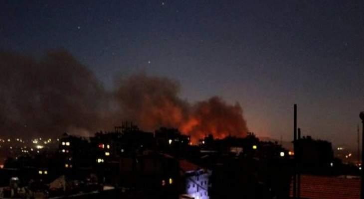النشرة:القصف الإسرائيلي استهدف منطقة الكسوة جنوب دمشق ومحيط مطار المزة