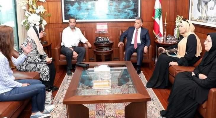 اللواء ابراهيم استقبل أهالي الموقوفين اللبنانيين في الامارات