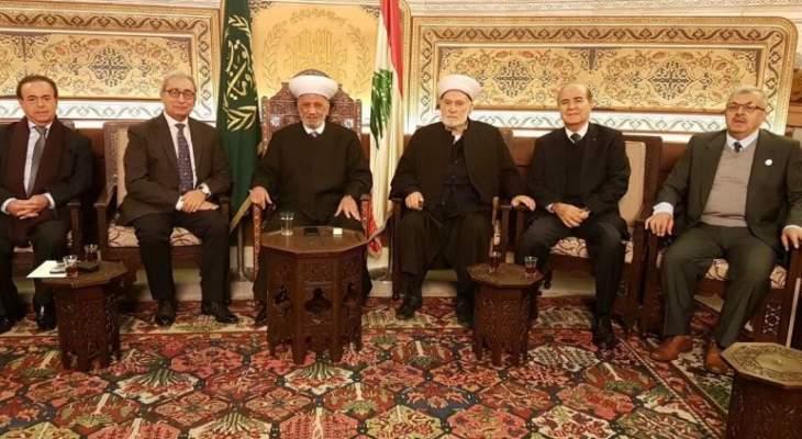 دريان استقبل رئيس المركز الثقافي الإسلامي وقائد الدرك ووفد من جمعية تجار لبنان الشمالي