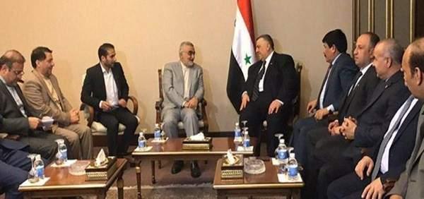 وفد إيراني يبحث مع رئيس البرلمان السوري تعزيز العلاقات الثنائية