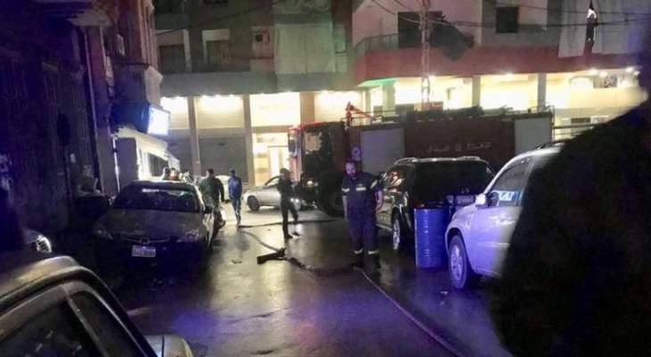 الدفاع المدني:حريق داخل شقة سكنية ومعالجة حالات اختناق في برج ابي حيدر