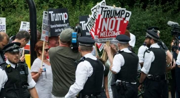 مئات البريطانيين تظاهروا في لندن ضد زيارة ترامب