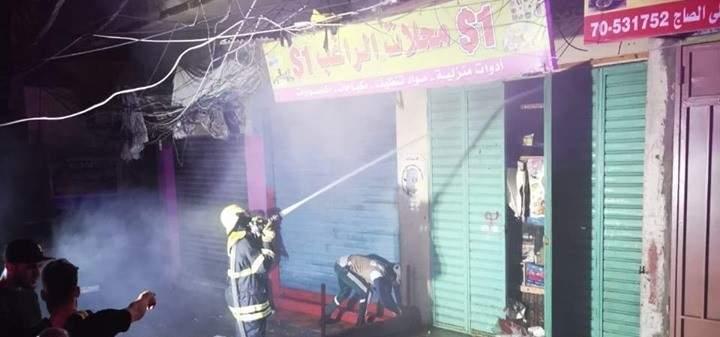 إخماد حريق في مخيم البداوي قبل تمدده
