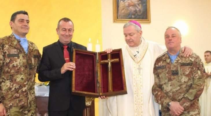 اليونيفيل الإيطالية تدشن الكنيسة الجديدة في مقرها في شمع