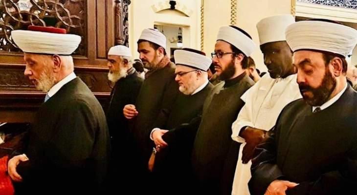 المفتي دريان أدى صلاة الجمعة في مسجد محمد الأمين وسط بيروت