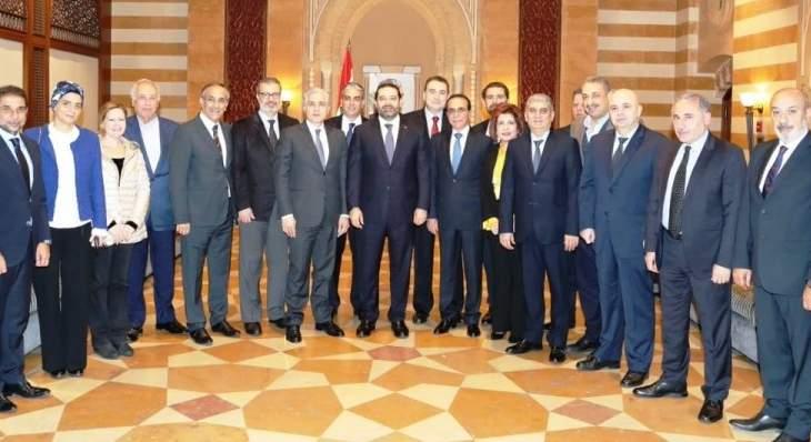 الحريري اطلع من وفد من مجلس بلدية بيروت على سلسلة مشاريع ستقام في سنة 2019